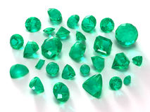 Emerald gems Royalty Free Stock Images