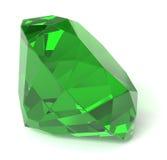 Emerald gemstone. Close-up: emerald gemstone on white Royalty Free Stock Photo