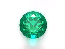 Emerald gemstone. Isolated on white background Royalty Free Stock Photos