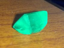 Emerald gemstone. About 1 or two carats Royalty Free Stock Images