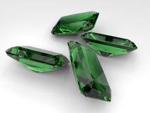 Emerald gemstones Stock Photos