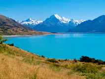 Emerald Glacier Lake Pukaki, Aoraki Mt Cook NP, NZ Stock Photos