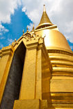 Emerald golden buddha temple Stock Photo