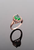Emerald golden ring Royalty Free Stock Photos