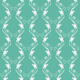 Emerald green art deco pattern Royalty Free Stock Images