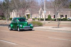Emerald Green Classic Hodrod foto de archivo libre de regalías