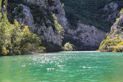 Emerald green glitteringwaters of the Cetina Royalty Free Stock Photo