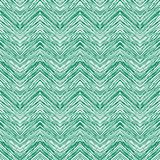 Emerald Green Hand Drawn Vector Zigzag Pattern Stock Photo