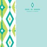 Emerald green ikat diamonds square torn seamless Stock Images