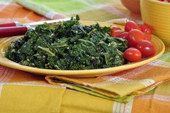 Emerald Green Kale Stock Photo