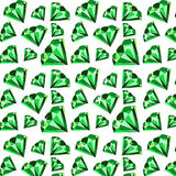 Emerald. Green little precious beautiful expensive gemstone pattern Stock Photography