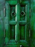 Emerald Green Painted Wooden Frame d'annata Fotografie Stock