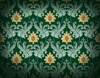 Emerald green renaissance background Royalty Free Stock Photos