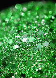 Emerald Green Sphere. Close up of a shinny emerald green sphere Royalty Free Stock Image