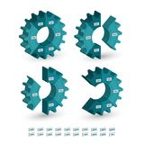 Three dimensional Circle gear chart Royalty Free Stock Photo