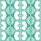 Emerald green victorian hearts seamless pattern Royalty Free Stock Image