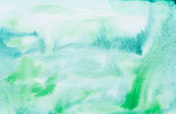 Emerald green watercolor abstraction Royalty Free Stock Images