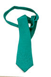 Emerald green wool tie Stock Photos