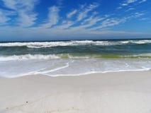 Florida Emerald Gulf Coast Beach. White caps breaking in the waters of the Florida Coast Stock Photos