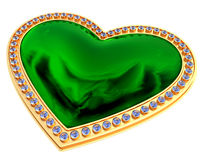 Emerald heart jewelry Royalty Free Stock Photography