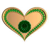 Emerald heart jewelry Stock Photo