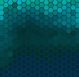 Emerald hexagonal grid Royalty Free Stock Photography