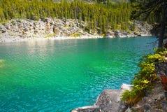 Emerald Horseshoe Lake Canada Stock Photo
