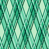 Emerald hues seamless rhombic pattern Stock Image
