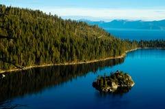 Emerald Island bij Meer Tahoe, CA stock foto