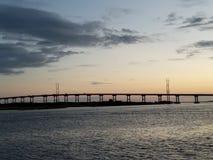 Emerald Isle North Carolina Sunset imagen de archivo libre de regalías