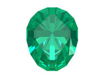 Emerald isolated on white background Royalty Free Stock Photo