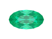 Emerald isolated on white background Royalty Free Stock Images