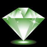 Emerald Jewel. 3D emerald Jewel isolated on a black background image Royalty Free Stock Photo