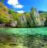 Emerald lagoon Stock Photo