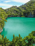 Emerald lagoon stock images
