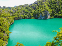 Emerald lagoon, tropical paradise Stock Image