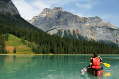 Emerald lake Stock Photo