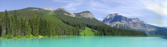 Panorama Emerald lake in Canada Royalty Free Stock Image