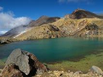 Emerald lake. Near volcano in new zealand Stock Photography