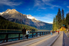 Emerald Lake. Beautiful light at Emerald Lake in Yoho National Park, British Columbia, Canada Royalty Free Stock Images