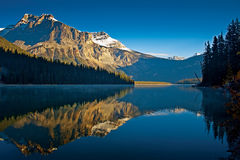 Emerald Lake. Beautiful light at Emerald Lake in Yoho National Park, British Columbia, Canada Royalty Free Stock Image