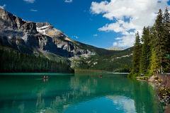 Emerald Lake. Scenic view of the Emerald Lake, Yoho National Park Stock Photography