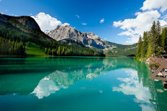 Emerald Lake. Scenic view of the Emerald Lake, Yoho National Park Stock Photo