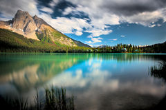 Emerald Lake. Late afternoon light at Emerald Lake, Yoho National Park Royalty Free Stock Image