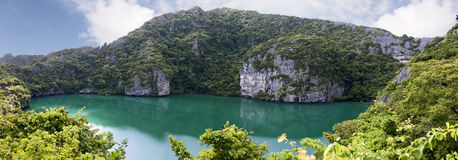 Emerald Lake. The saltwater lake of Emerald Lake in Angthong National Marine Park in southern Thailand Royalty Free Stock Images