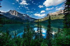Emerald Lake. Scenic view of the Emerald Lake, British Columbia Royalty Free Stock Photography
