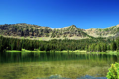 Emerald Lake. In Montana on a beautiful summer's day Stock Photography