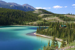 Emerald Lake, Alaskan highway, Royalty Free Stock Photos