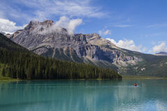 Emerald lake Banff Yoho national park Royalty Free Stock Images