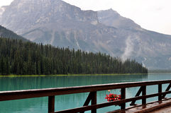 Emerald lake Stock Image